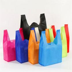Comercio al por mayor colorido Non-Woven personalizada Bolsa barata no tejido plegable Bolsa de compras bolsas reutilizables de Nonwoven