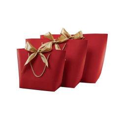 ハンドルのベビーシャワー党結婚式のバレンタインデーの装飾が付いている中心のペーパーギフト袋のGoodie美しい袋