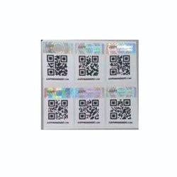 Съемные безопасности ленты наклейка табличка с указанием кода QR
