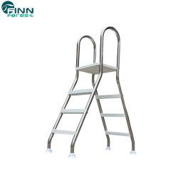 Piscina de acero inoxidable de doble seguridad Paso escaleras con pasamanos