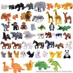 Modèle animal Figures Ensembles de blocs de construction Monkey Horse de jouets éducatifs pour enfants
