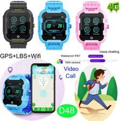 4G/lte Smart étanche regarder Tracker GPS avec l'icône Appel vidéo individuels D48