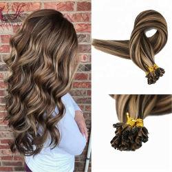 La meilleure qualité 100% Virgin Remy Hair pleine cheveux russe de la cuticule U Astuce la kératine des cheveux couleur de l'Extension de piano