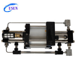 Modelo Usun: GBD40 200-300 Bar Acionada pneumático de dupla ação para o nitrogênio da Bomba Auxiliar para Teste do Cilindro