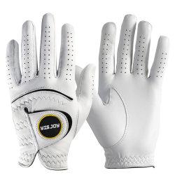 Commerce de gros cuir Cabretta. Golf personnalisés des gants en cuir de mouton souple golfeur usine de gants