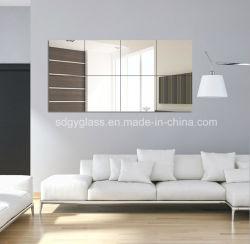 ホテルおよび居間のための安全によって磨かれる種類の形のアルミニウムまたは銀の壁ミラーの浴室の装飾的な家具ミラー