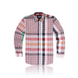 il modo ha progettato la grande camicia 100% dell'assegno del cotone