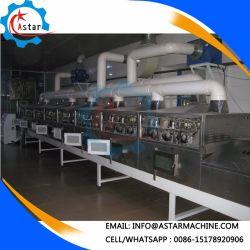 Completamente automática de túnel Industrial Horno Microondas Horno de secado de electrodos de túnel de la Deshidratación