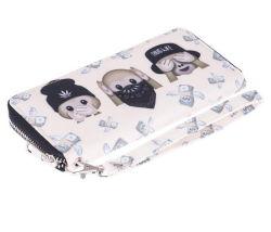 Fermeture à glissière Fancy Mesdames sac à main/goujons femmes Logo personnalisé Wallet