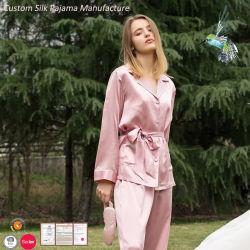 Conception personnalisée Pajama Set à manchon long de la soie