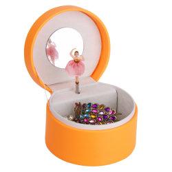 Contenitore di monili rotondo speciale di musica per il cioccolato impaccante di carta del cartone stampato marchio su ordinazione del contenitore di regalo dei bambini
