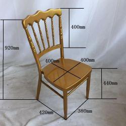 Preço baixo empilháveis Casamento Charivari Golden Cadeiras de eventos de ferro de aço de metal de alta qualidade Napoleon Chiavari cadeiras