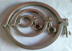 304 Collier en acier inoxydable 316 avec joint de silicone en stock