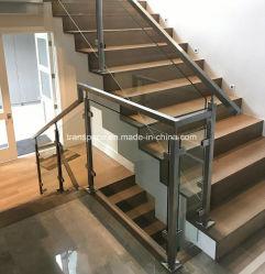 Terraço de vidro de Aço Inox Corrimão de vidro balaustrada Escada Baluster em aço inoxidável