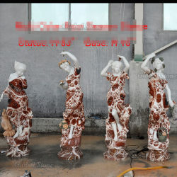 Signora di quattro stagioni Multi-Colored di marmo Sculptures (GSS-257) delle donne