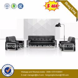 Хромированная металлическая рама комбинации кожаный диван Office (HX-CS005)