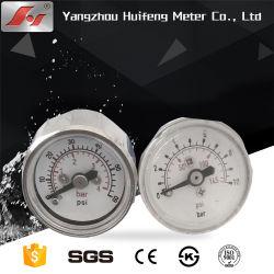Стальной корпус из нержавеющей стали термометр биметаллической пластины трубопровода системы отопления с помощью латунного стержня клапана