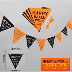 Festa de Páscoa String de decoração de galhardetes Non-Woven sentida Pavilhão Banner do Dia das Bruxas