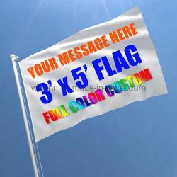 Design personnalisé de haute qualité Le Logo de la main en polyester /Corps// Graden drapeaux de voiture