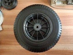 芝刈機のためのプラスチック縁が付いている中国の工場16inch 6.50-8泥炭PUの泡の車輪
