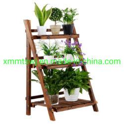 Pliage de peuplement en bois, bois d'organiseur, Pot de fleur Stand