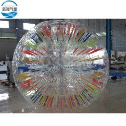 PVC 형광성 팽창식 잔디 회전 바디 Zorb 창조적인 투명한 공