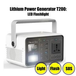 De draagbare Opslag van de Energie van de Levering van de Generator van de Omschakelaar van de ZonneMacht 222wh 4-USB