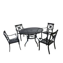 O alumínio designs modernos mesa de jantar 12 lugares para Piscina Pátio com jardim
