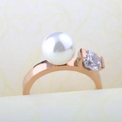 方法宝石類はステンレス鋼の金によってめっきされる真珠のダイヤモンド指輪をつなぐ