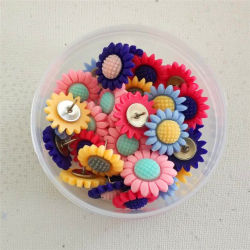 Fleur de résine Thumbtack étoile de mer de tournesol 30 Pack uniquement