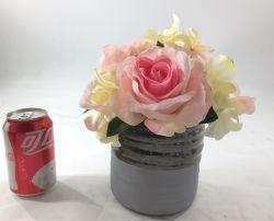 Fleurs artificielles en plaqué or en céramique Décoration maison Bonsai