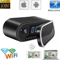 De hoge Videorecorder van de Camera van het Alarm van de Klok van het Netwerk van WiFi IP van de Opsporing van de Motie van de Definitie 1080P Draadloze Digitale