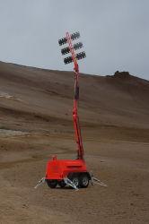 Tour d'éclairage LED mât hydraulique stable continue à long temps de travail