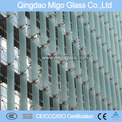 Profil en aluminium frame ouvrir des fenêtres en verre de lame d'aération