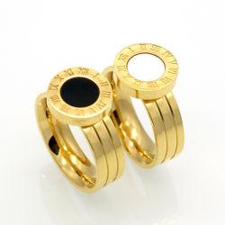 Bijoux en acier inoxydable 316L Les chiffres romains de l'anneau de doigt de la mode
