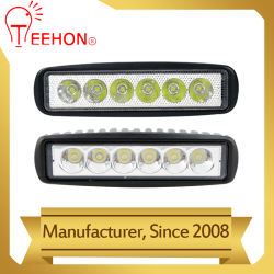 Prix de promotion de la conduite de lumière LED 18W voiture phare de travail à LED