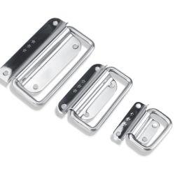 ハンドルの金属の木箱のハンドル袋のハンドルのステンレス鋼のハードウェアのアクセサリの表面によって取付けられるハンドルの機械ハンドル