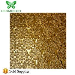201 золотистого цвета наружного зеркала заднего вида тиснение (emboss) оформление листов из нержавеющей стали