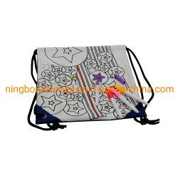 DIYの方法絵画ギフトのデッサンのバックパックはドローストリング袋をからかう