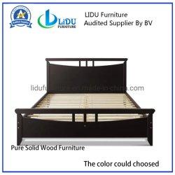 Tamaño doble marco de la cama de madera de cerezo oscuro - Marco de la Cama Tamaño Queen de la base de colchón de la plataforma de madera de pino Muebles de Dormitorio