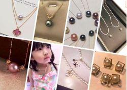 Collier de perles, or jaune 18k Collier de perles, or jaune 14k Collier de perles, collier de perles d'eau douce, eau de mer Collier de perles, de la mode des bijoux,