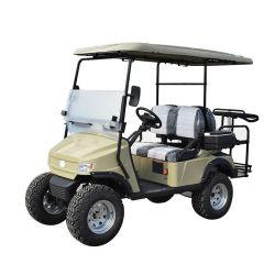 セリウムおよびSGSの証明のリゾートのための熱い販売の高品質の黄色2のシートの電池のゴルフカート