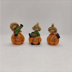 Scarecrow Pumpkin Resin Crafts for Garden Decoration