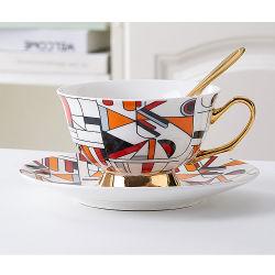 Kreative äthiopische Porzellan-Weinlese-Kaffee-Teecup-und Saucers-Sets