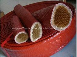 Hittebestendige beschermbuis Brandbescherming Silicone bestand tegen hoge temperaturen Glasvezel warmte-isolatiehuls