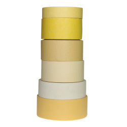 Farbiges Breiten-mittlerer Temperatur-Widerstand-starkes anhaftendes Krepp-Papier-selbsthaftendes Kreppband für Automobilfarbanstrich-oder Haus-Dekoration mit SprungShrink packte