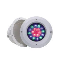 مصباح LED بلاستيكي مسطح من النوع بجهد 12 فولت مثبّت على الحائط حمام السباحة ضوء أبيض دافئ أبيض أحمر RGB ومفرد أزرق