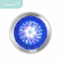 RGB خلط ضوء حوض السباحة LED 12-20 فولت 18 واط من الفولاذ المقاوم للصدأ ضوء حوض السباحة ضوء LED تحت الماء لحمام السباحة