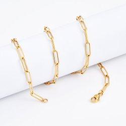 مصنع ممون نمو نوع ذهب يصفّى [ستينلسّ ستيل] طويلة [فلت كبل] سلسلة مجوهرات شريكات لأنّ خل سوار عقد [جولّري] يجعل