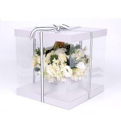 Acrílico transparente de luxo Rose Floreira Exibir